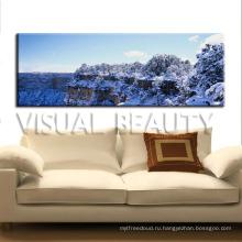 Снег покрыл естественный декор холст картины стены искусства дома украшения