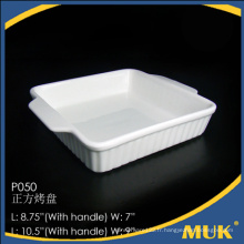 Design carré Chine en gros céramique blanc ensemble de plaques moderne