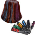 Non Gunging Temporary Hair Coloring Chalk Comb