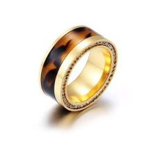 Joyas de acero inoxidable anillos de oro anillo de moda (hdx1128)
