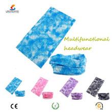 Ningbo Lingshang 100% poliéster microfibra multifuncional personalizado crânio bandana tubo headwear