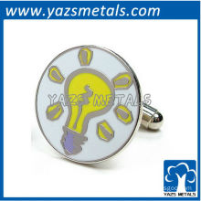 Light bulb cufflinks, customize high quality metal cufflink crafts