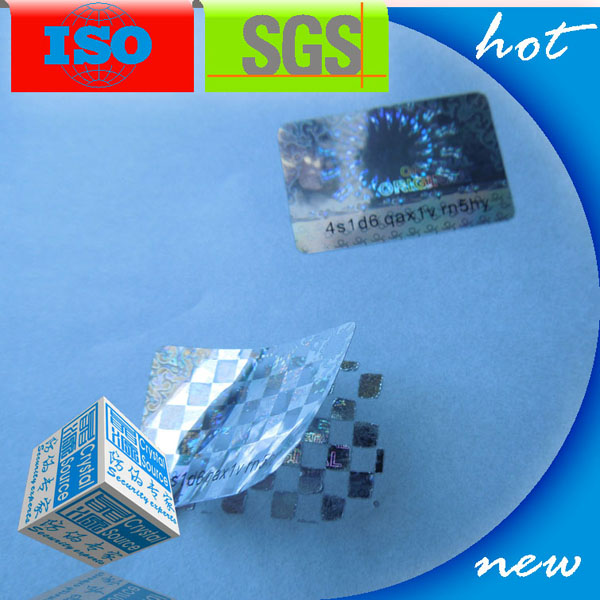 3d Hologram Tamper Seal Label