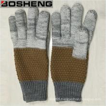 Men Warm 3 Color Full Finger Knitted Gloves