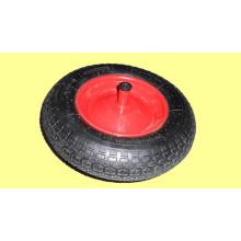 En caoutchouc roues 16 X 400-8, en métal ou en plastique jantes, roues pneumatiques, costume pour Whee Barrow