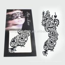 Tatoos provisórios feitos sob encomenda da composição da tatuagem feita sob encomenda da transferência da água da cara para o Dia das Bruxas