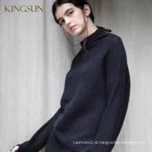Camisola solta para mulheres, estilo Boy Friend, Pullover for Spring & Autumn