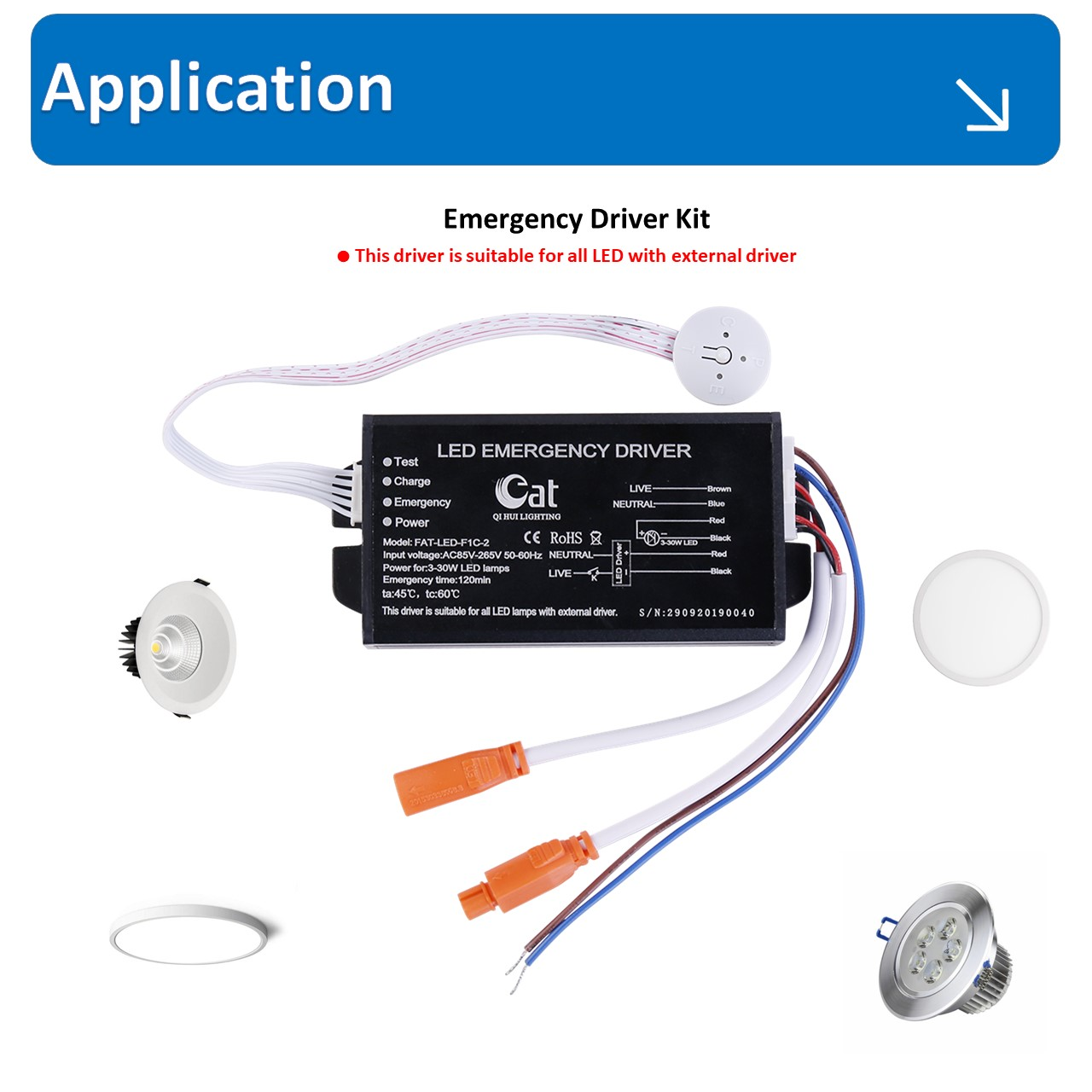 battery backup emergency spotlight