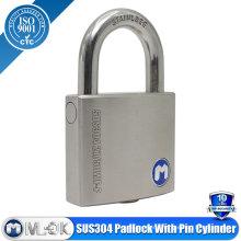 MOK@W207P/SS anti-drilling pin padlock,drilling resistant padlock,best padlock