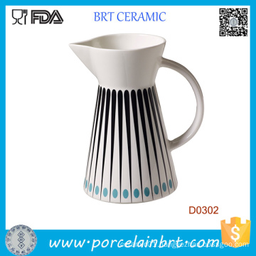 Western Style kitchen Ceramic Water Milk Jug for Promotion