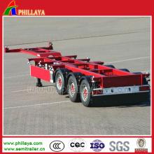 Semi Trailer Hersteller 40 Fuß Container Skelett-Sattelanhänger