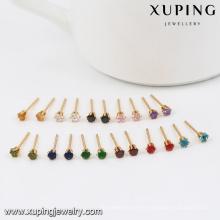 29358-Xuping mini 1gram mujeres earing joyería chapada en oro 18k