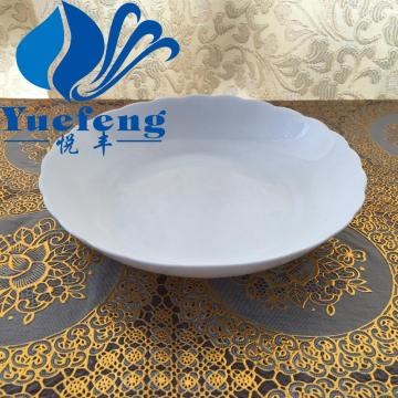 "Opal Glass lace shallow bowl 8"""