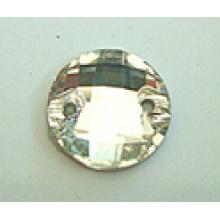 Perles rondes en verre dos plat