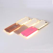 Caja popular del teléfono móvil para iPhone con LED luz Selfie caso