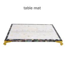 CBM-MP Novo estilo Mixed shell Mosaic placemat para decoração de mesa