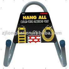 2 cabides suspensão de metal j hooks gancho de metal de supermercado com suporte de sinal
