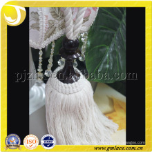cotton wooden tassel tiebacks.fashion tassel