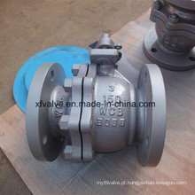Válvula de esfera manual de 150lb 300lb Wcb RF