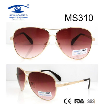 Gafas de sol calientes del metal de la venta del nuevo diseño del tamaño grande (MS310)