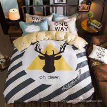 Tecido de impressão 100% algodão para roupa de cama e outros têxteis domesticos