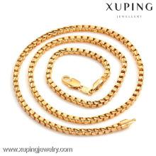 40706 Xuping atacado encantos homens moda cor de ouro cadeia colar de jóias