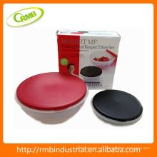2014 nouveau récipient de nourriture en plastique réglé 2pcs (RMB)