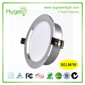 round design with rotation and gimbal housing 18w dimmable cob led downlight