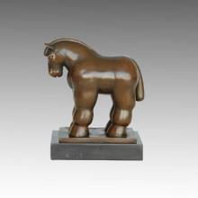 Estatua de animales Squabby caballo de bronce escultura, Fernando Botero TPE-1000