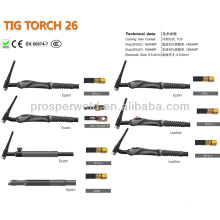 Argon Gas Tig Welding Torch Welding Consumable TIG 26 and Spare Parts