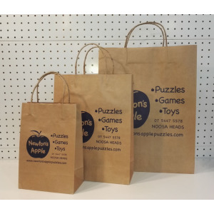 Apple print custom shopping bags