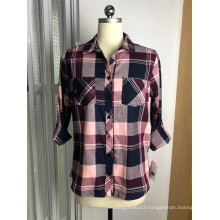 100% Cotton Y/D  Long Sleeves Blouses