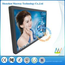 Publicidad interior LCD de 21,5 pulgadas de pantalla con sensor de movimiento