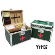 caixa de kit de primeiros socorros de alumínio com 2 opções de cor