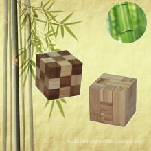 E-co Freundliche heiße Verkäufe Neuheit-hölzernes Bambuswürfel-Puzzlespiel für förderndes Geschenk