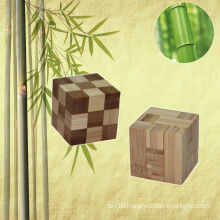 E-co Friendly Hot Sales Novelty Wooden Bamboo Cube Puzzle for promotional gift