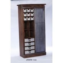 Armoire à bois portative Armoire à rangement à vêtements Chambre à coucher Armoire
