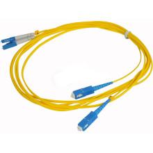 SC / PC au cordon de raccordement à fibre optique LC / UPC, cavalier à fibre optique, cordon de connexion optique