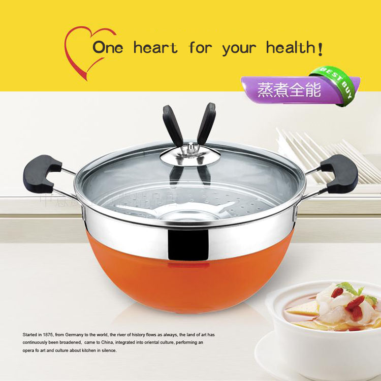 Colorful double steamed boiler