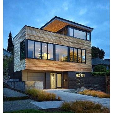 Ventanas de vidrio grandes de aluminio 2019 para venta de fábrica de casa contenedor