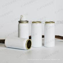 Lata de aerosol de aluminio blanco para el embalaje cosmético del aerosol del perfume (PPC-AAC-043)