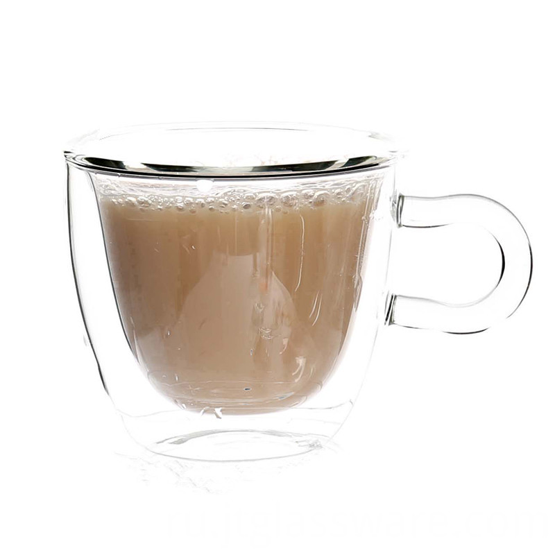 Hot Sale Handle Glass Coffee Mugs Iced Tea