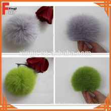 dyed fox fur ball for hat