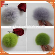 окрашенный Лисий мех мяч для шляпы