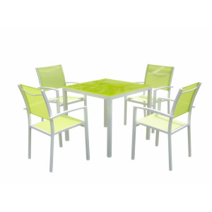 5pc alu garden dining set