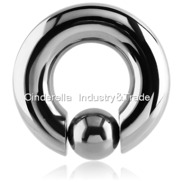 Titanium Ball Closure Ring Pop Out Ball
