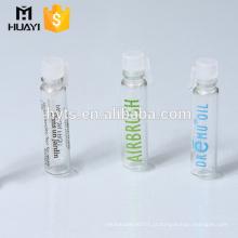 Frasco de vidro pequeno do tubo do perfume de 1ml 2ml