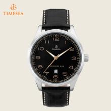 Mens relógios casuais 10 ATM relógio de couro impermeável Quartz 72391