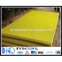 yellow PVC coating welded mesh panel