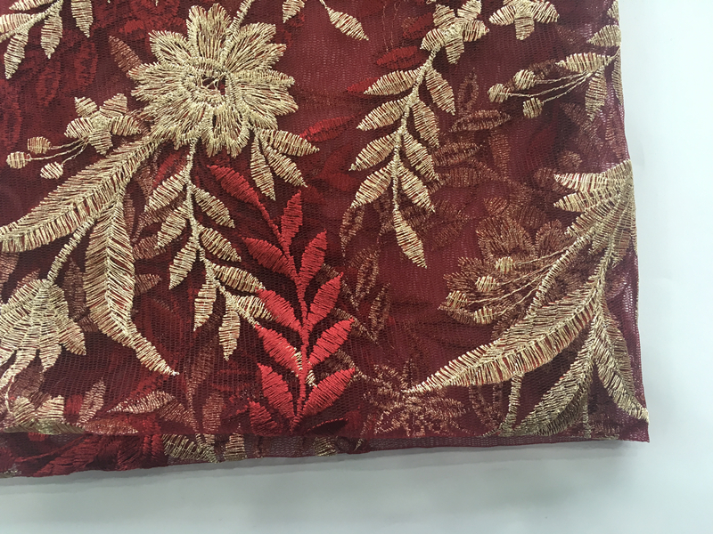 Flower Embroidery Fabric